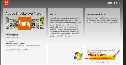Screenshot Adobe Shockwave Player untuk Windows 7