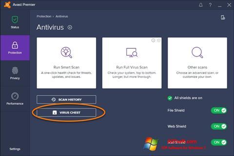 Screenshot Avast untuk Windows 7