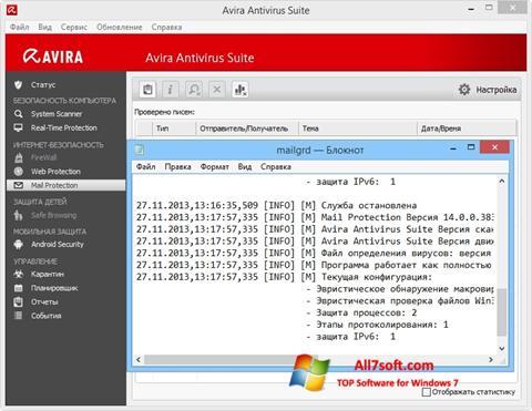 Screenshot Avira untuk Windows 7