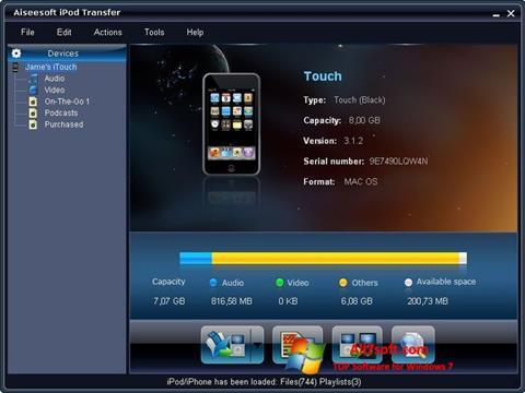 Screenshot iPhone PC Suite untuk Windows 7