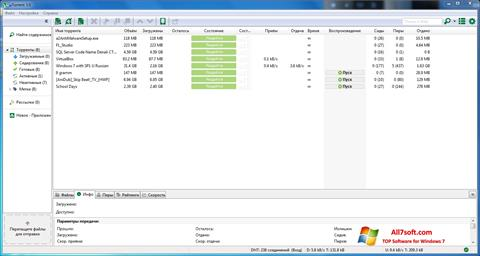 Screenshot uTorrent untuk Windows 7
