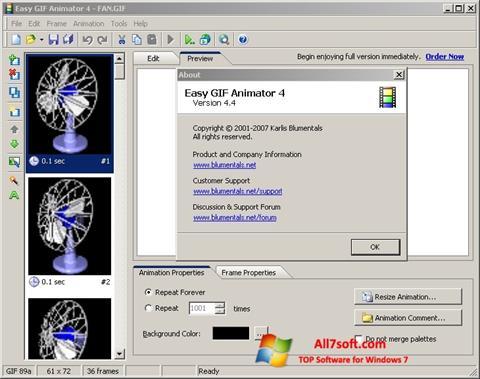 Screenshot Easy GIF Animator untuk Windows 7