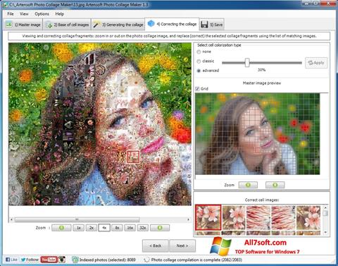 Screenshot Photo Collage Maker untuk Windows 7