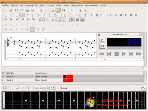 Screenshot TuxGuitar untuk Windows 7