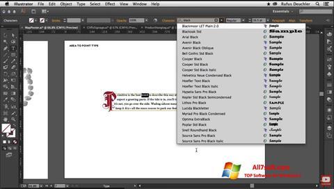Screenshot Adobe Illustrator untuk Windows 7