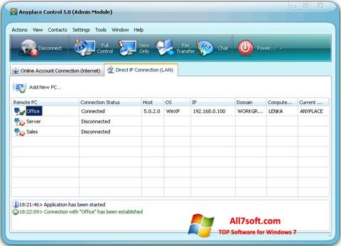 Screenshot Anyplace Control untuk Windows 7