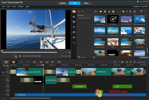 Screenshot Corel VideoStudio untuk Windows 7