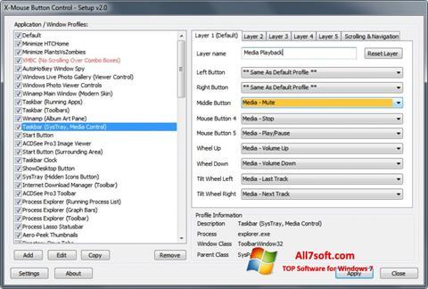 Screenshot X-Mouse Button Control untuk Windows 7
