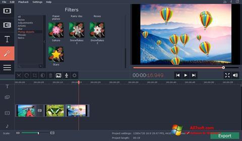 Screenshot Movavi Video Suite untuk Windows 7