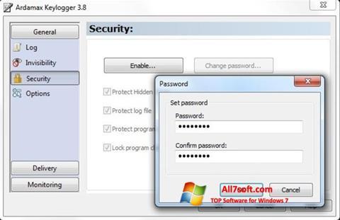 Screenshot Ardamax Keylogger untuk Windows 7