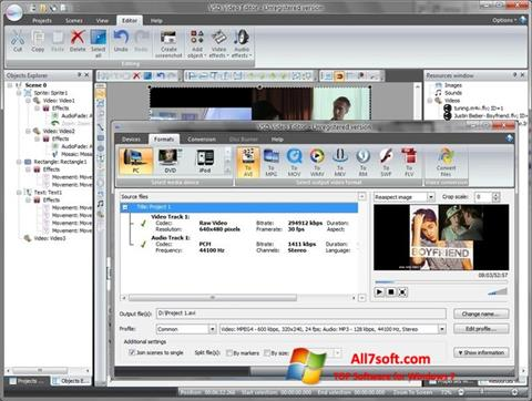 Screenshot Free Video Editor untuk Windows 7