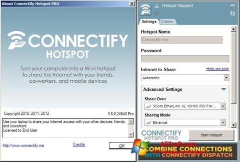 Screenshot Connectify untuk Windows 7