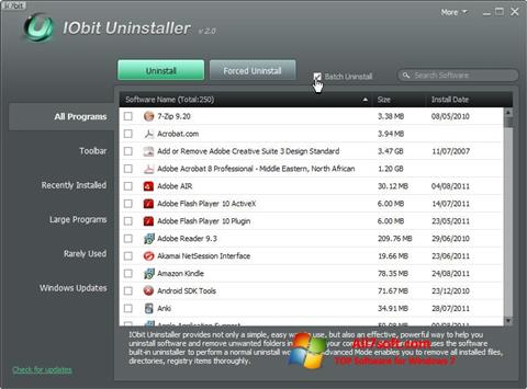Screenshot IObit Uninstaller untuk Windows 7