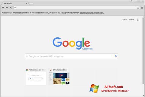 Screenshot Google Chrome untuk Windows 7