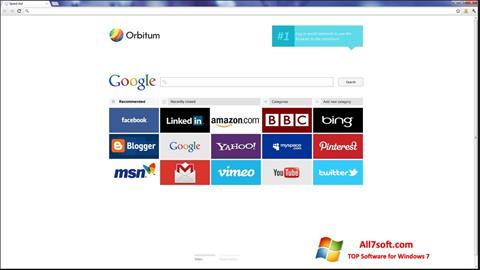 Screenshot Orbitum untuk Windows 7