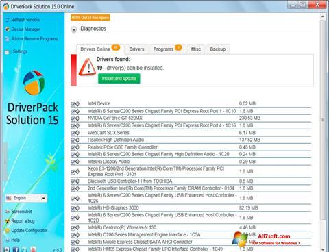Screenshot DriverPack Solution untuk Windows 7