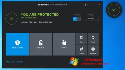 Screenshot Bitdefender untuk Windows 7