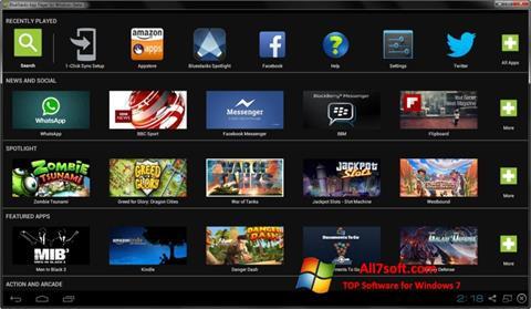 Screenshot BlueStacks untuk Windows 7