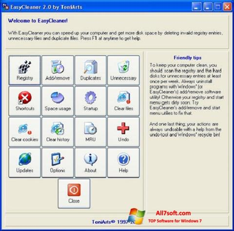 Screenshot EasyCleaner untuk Windows 7