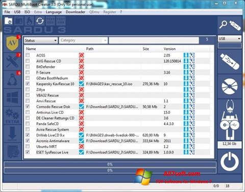 Screenshot SARDU untuk Windows 7