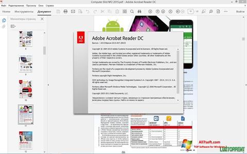 Screenshot Adobe Acrobat Reader DC untuk Windows 7