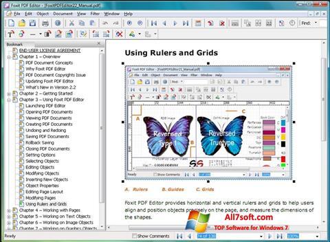 Screenshot Foxit PDF Editor untuk Windows 7