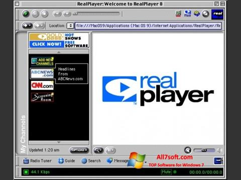 Screenshot RealPlayer untuk Windows 7