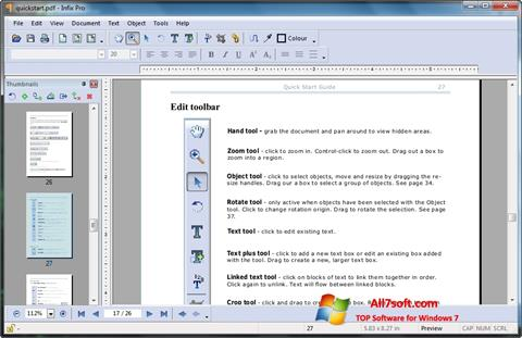 Screenshot Infix PDF Editor untuk Windows 7