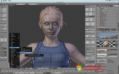 Screenshot Blender untuk Windows 7