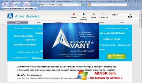Screenshot Avant Browser untuk Windows 7