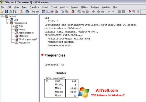 Screenshot SPSS untuk Windows 7