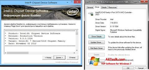 Screenshot Intel Chipset untuk Windows 7