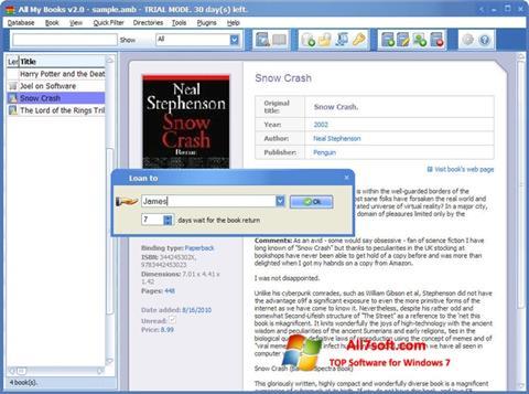 Screenshot All My Books untuk Windows 7