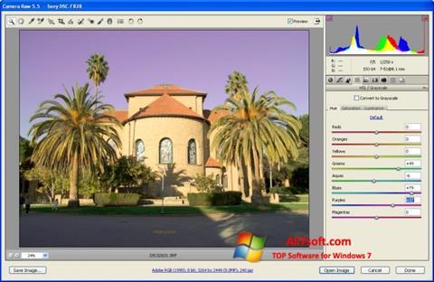 Screenshot Adobe Camera Raw untuk Windows 7