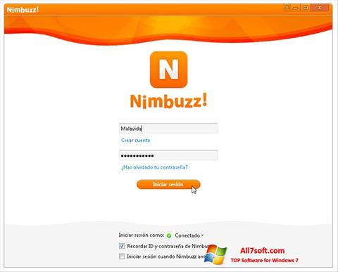 Screenshot Nimbuzz untuk Windows 7