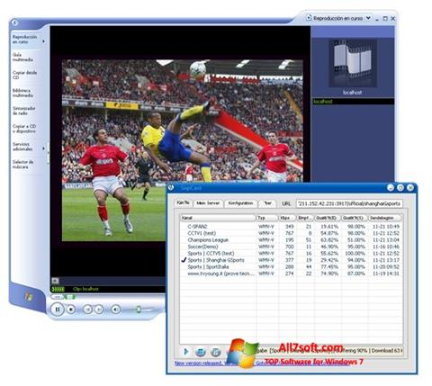 Screenshot SopCast untuk Windows 7