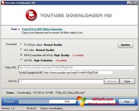 Screenshot Youtube Downloader HD untuk Windows 7