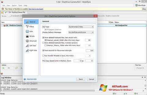 Screenshot GoodSync untuk Windows 7