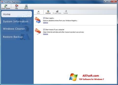 Screenshot TweakNow RegCleaner untuk Windows 7