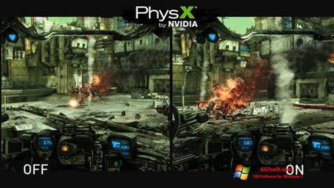 Screenshot NVIDIA PhysX untuk Windows 7