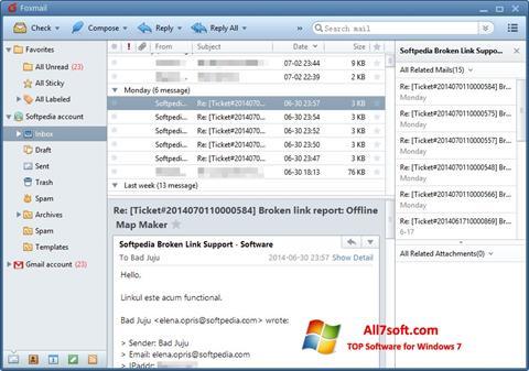 Screenshot FoxMail untuk Windows 7