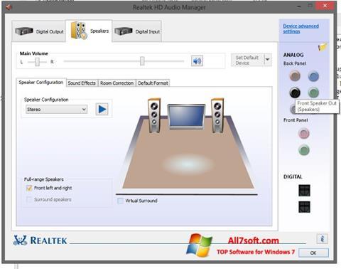 Screenshot Realtek HD Audio untuk Windows 7