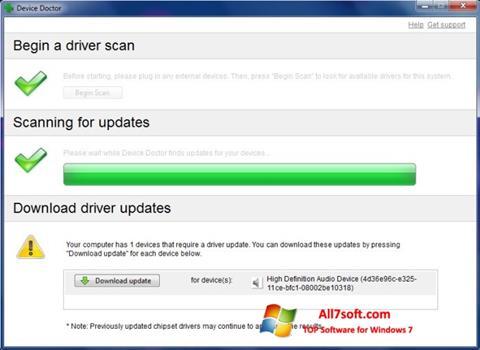 Screenshot Device Doctor untuk Windows 7
