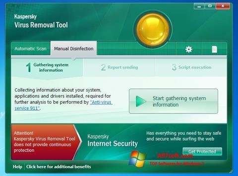 Screenshot Kaspersky Virus Removal Tool untuk Windows 7