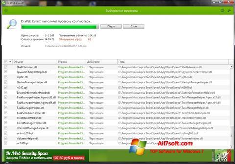 Screenshot Dr.Web untuk Windows 7