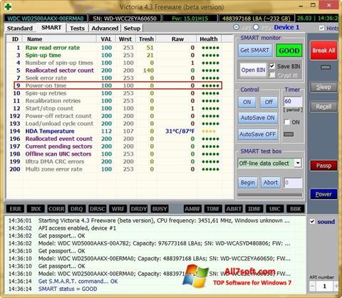 Screenshot Victoria untuk Windows 7