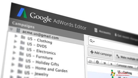 Screenshot AdWords Editor untuk Windows 7