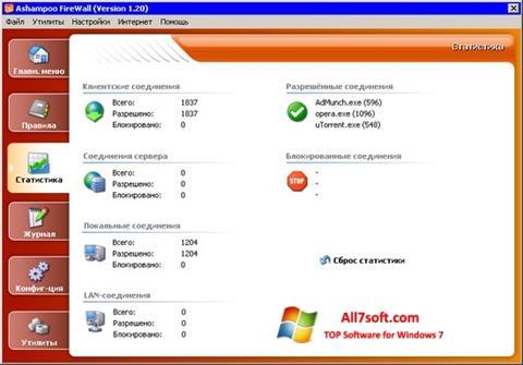 Screenshot Ashampoo Firewall untuk Windows 7