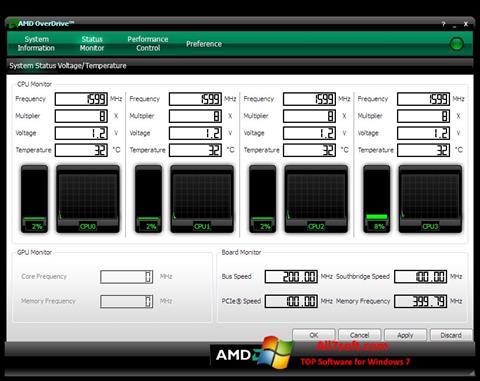 Screenshot AMD Overdrive untuk Windows 7
