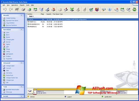 Screenshot Acronis Partition Magic untuk Windows 7